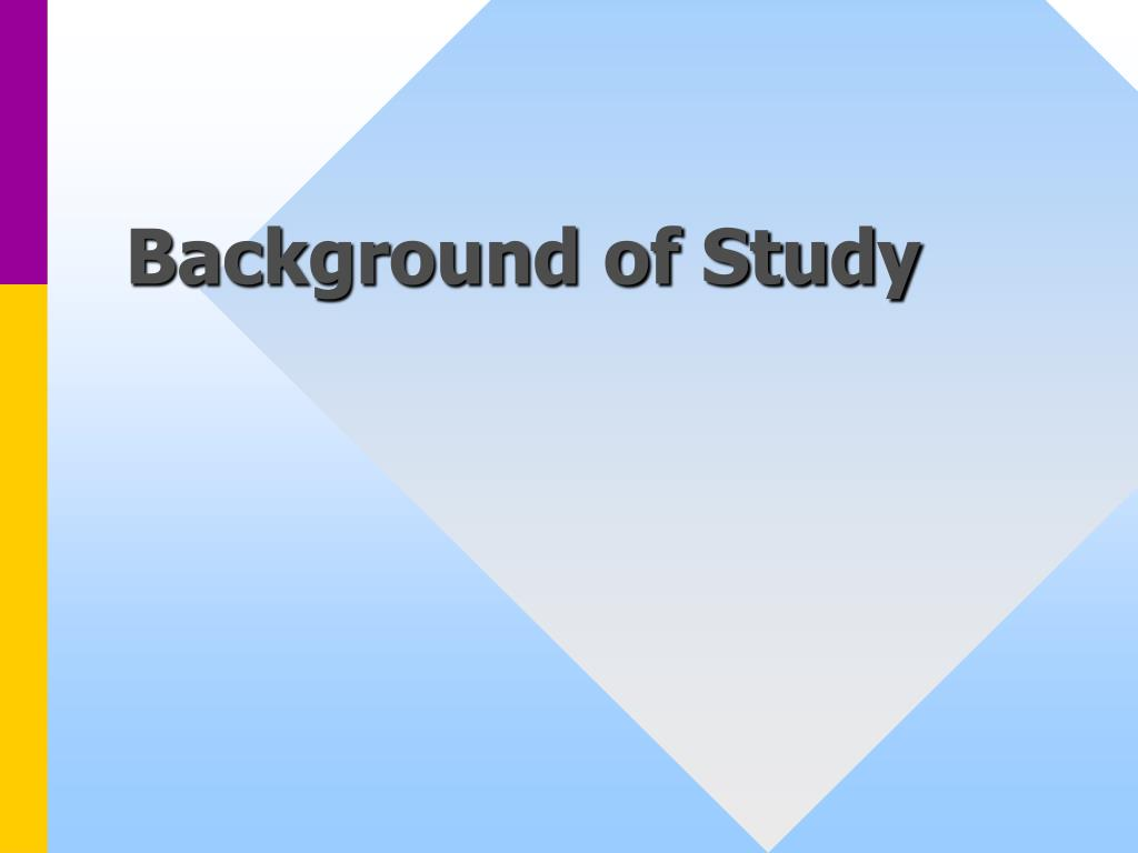 Background of Study