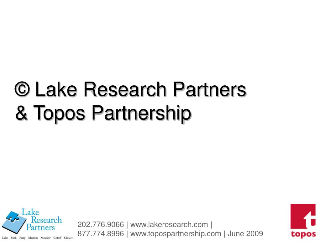 © Lake Research Partners