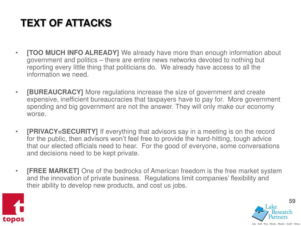 TEXT OF ATTACKS