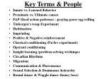 key terms people
