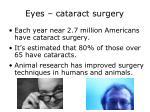 eyes cataract surgery