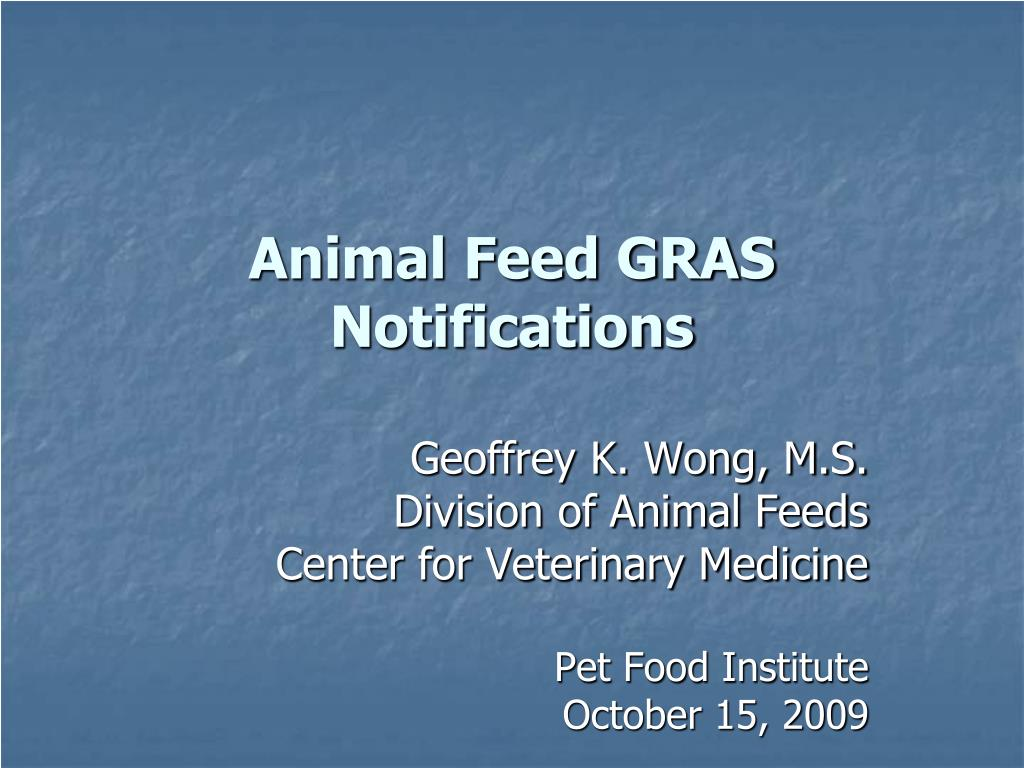 animal feed gras notifications l.