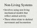 non living systems
