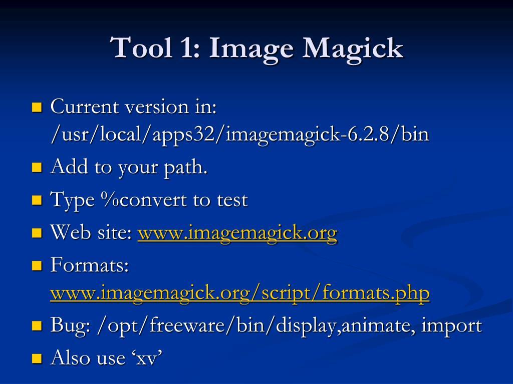 Tool 1: Image