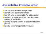 administrative corrective action