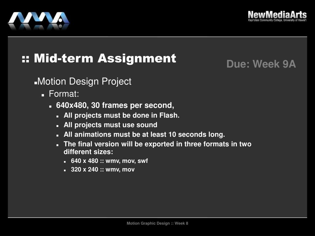 :: Mid-term Assignment