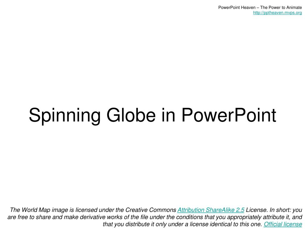 spinning globe in powerpoint l.