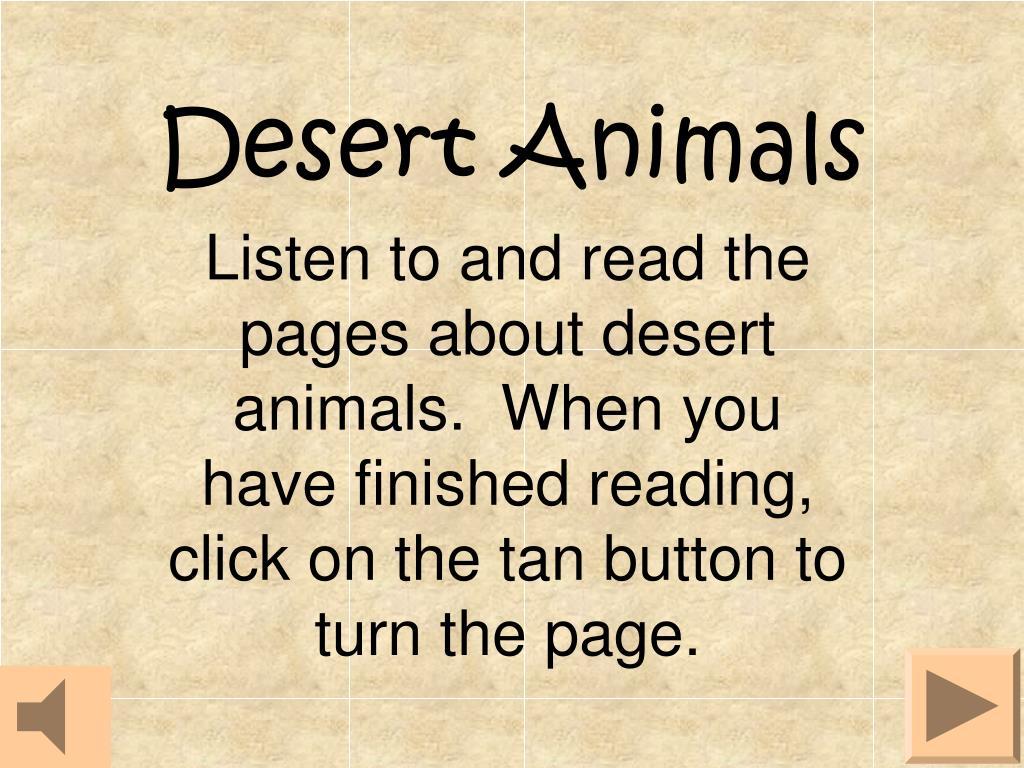 desert animals l.