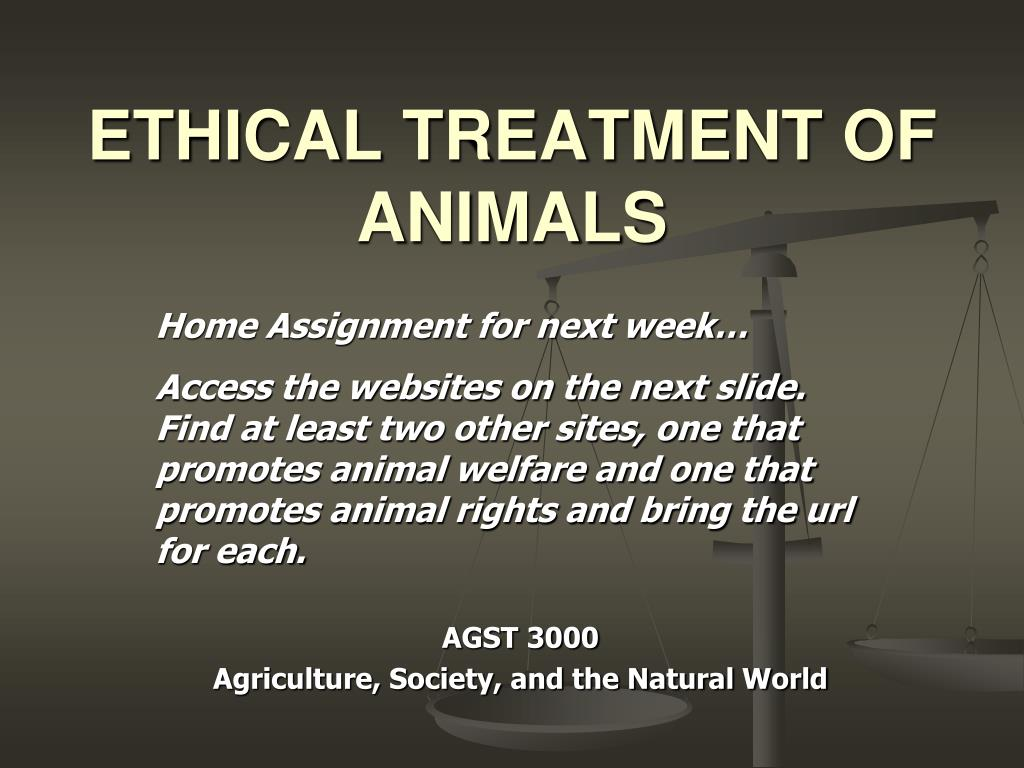 ethical treatment of animals l.