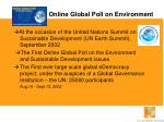 online global poll on environment