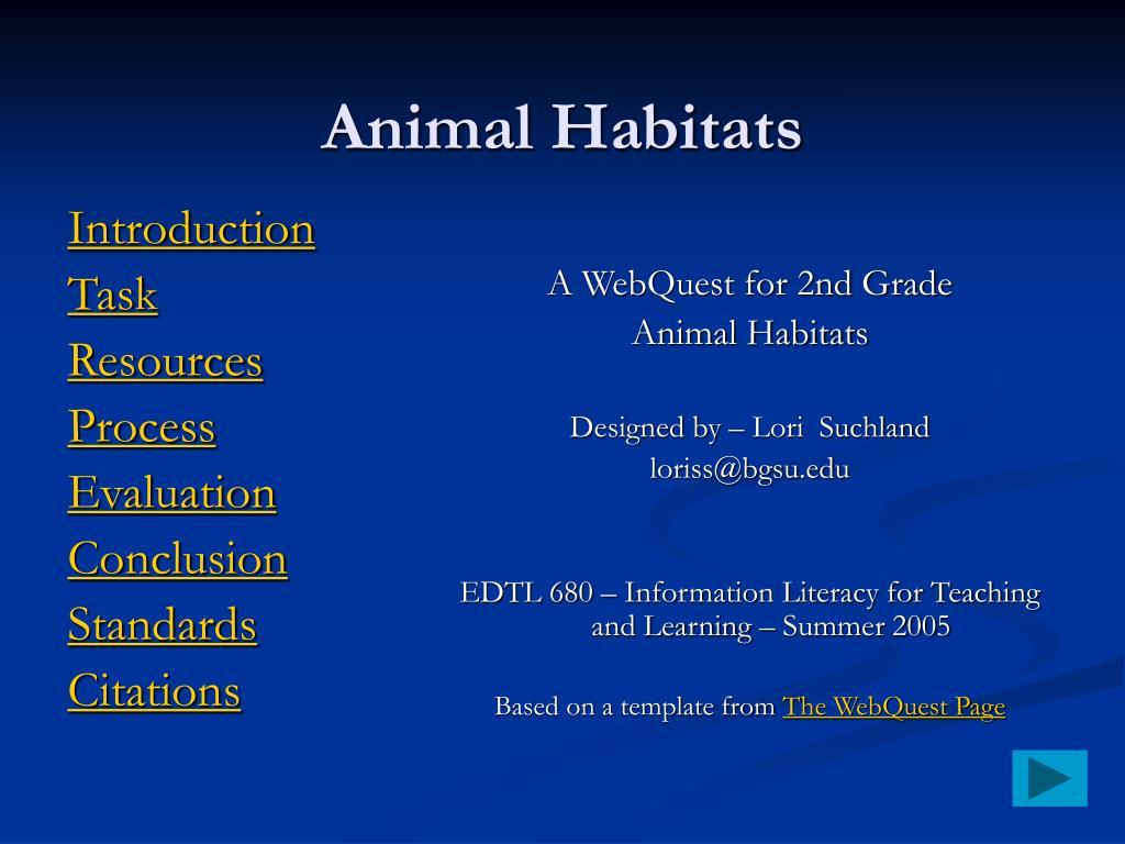 animal habitats l.