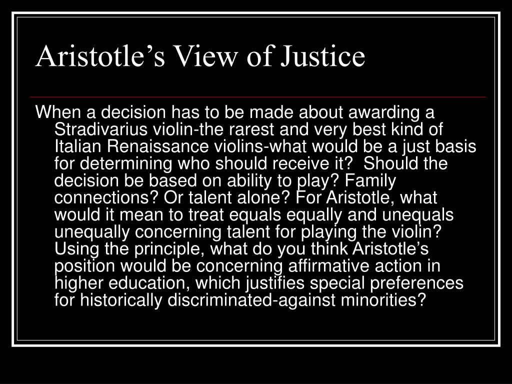 Aristotle's View of Justice