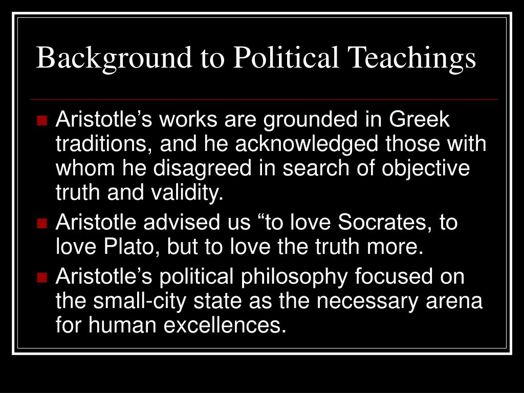 Background to Political Teachings