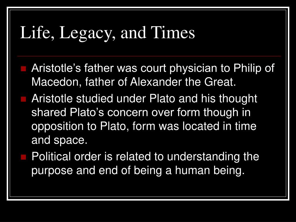 Life, Legacy, and Times