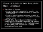 nature of politics and the role of the state continued19
