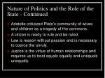 nature of politics and the role of the state continued22
