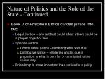 nature of politics and the role of the state continued24
