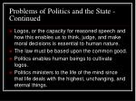 problems of politics and the state continued10