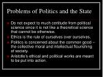 problems of politics and the state