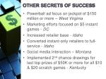 other secrets of success