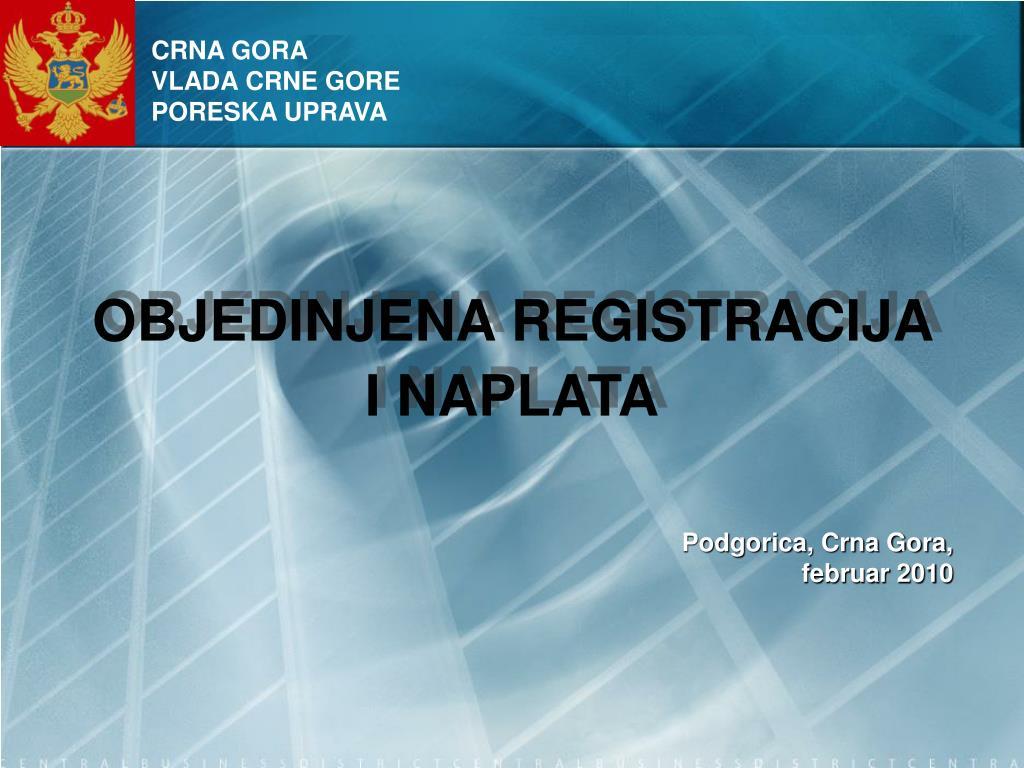 objedinjena registracija i naplata l.