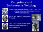 occupational and environmental toxicology16