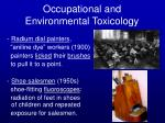 occupational and environmental toxicology17