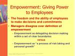 empowerment giving power to employees