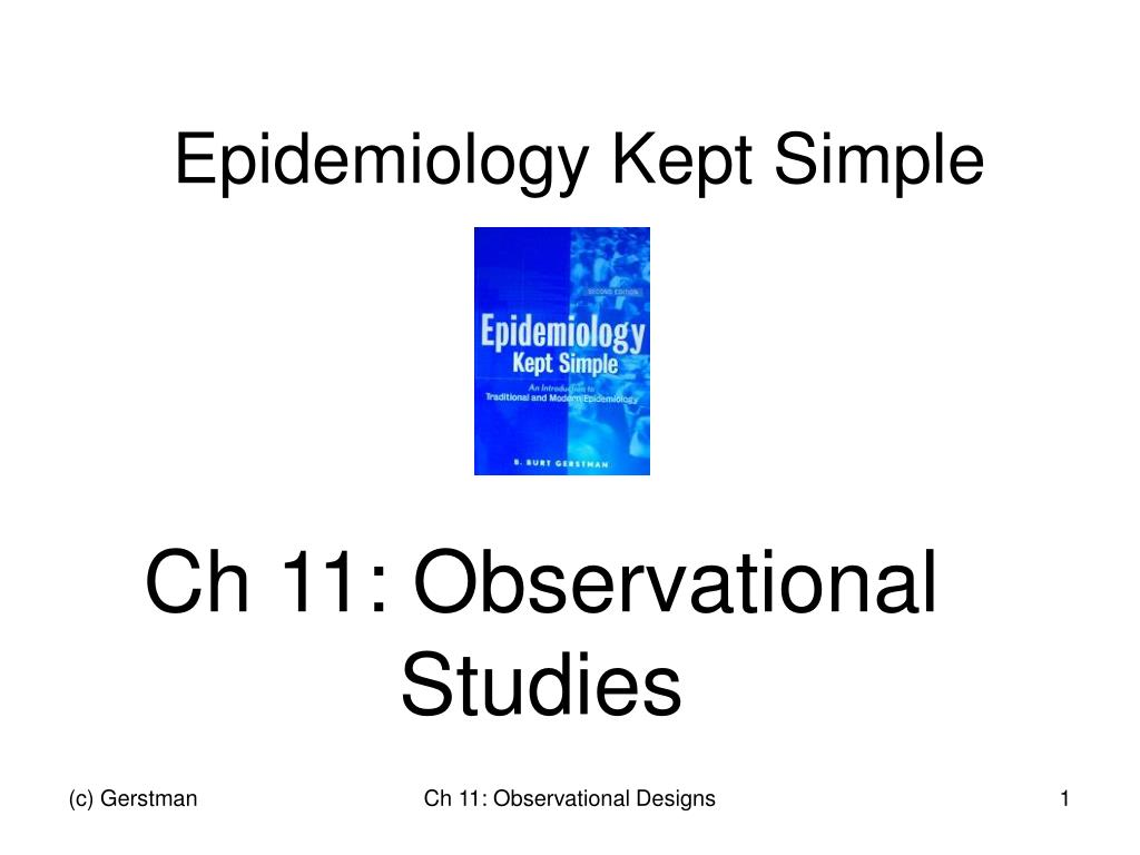 epidemiology kept simple l.