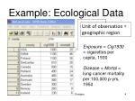 example ecological data