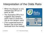 interpretation of the odds ratio