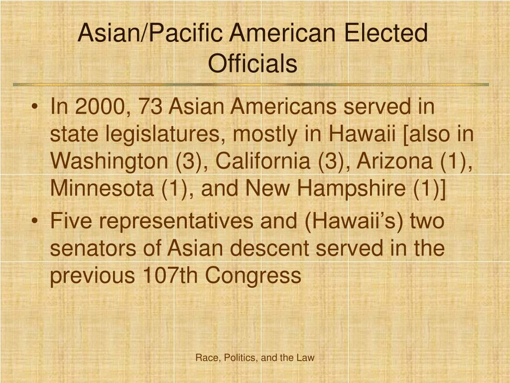 Asian/Pacific American Elected Officials