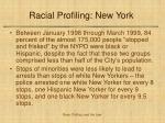 racial profiling new york
