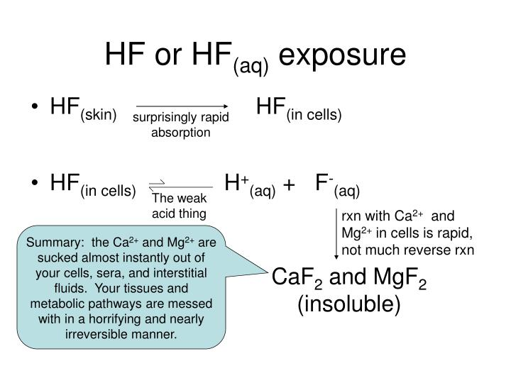 Hf or hf aq exposure