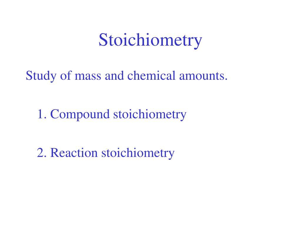 stoichiometry l.