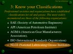 3 know your classifications