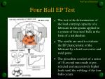 four ball ep test