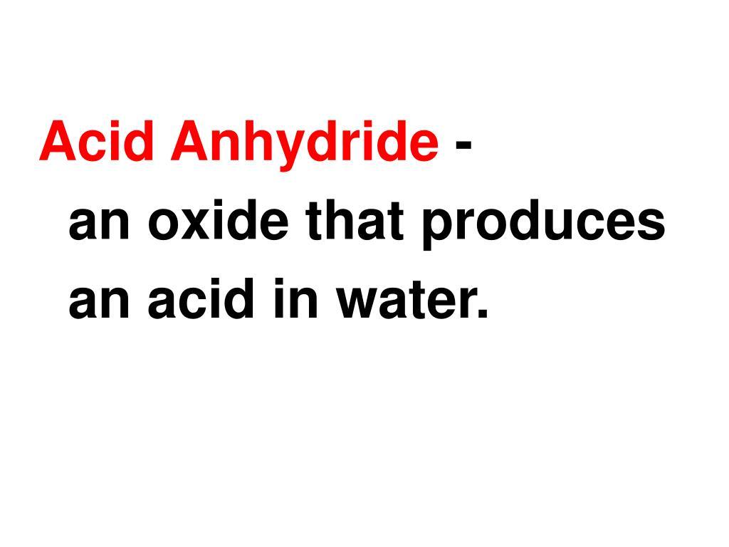 Acid Anhydride