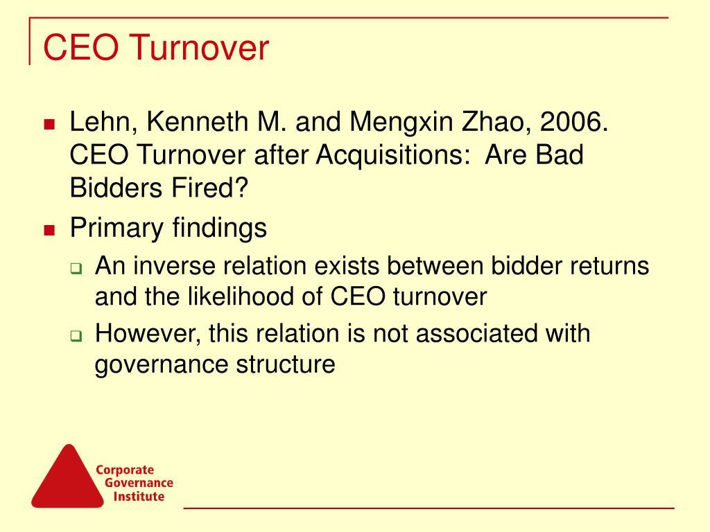 CEO Turnover