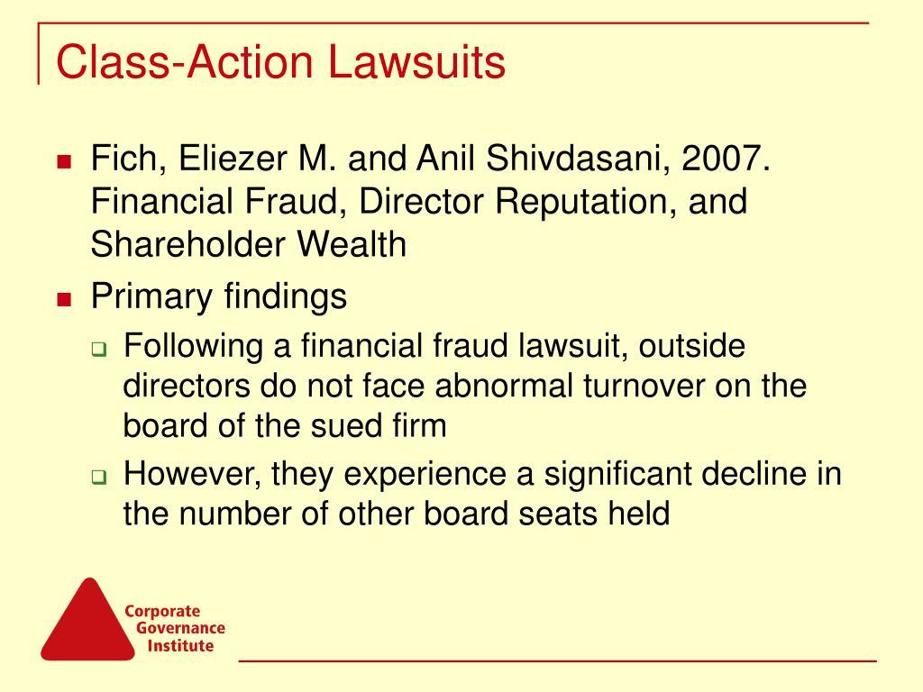 Class-Action Lawsuits