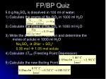 fp bp quiz