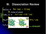 iii dissociation review