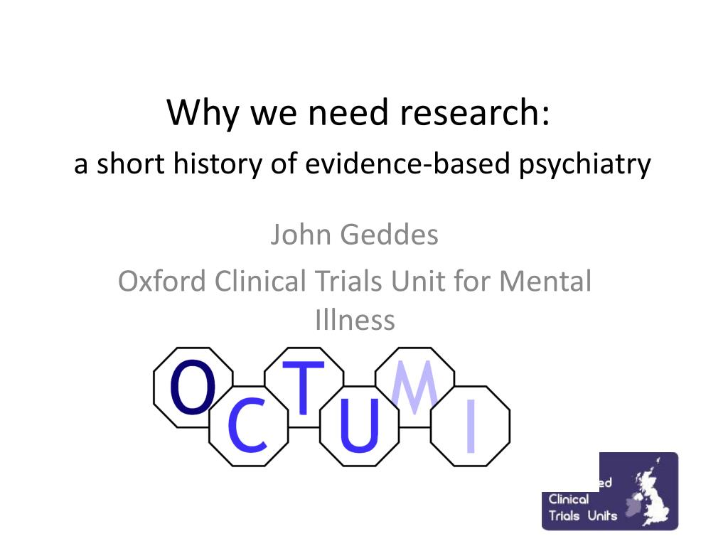why we need research a short history of evidence based psychiatry l.