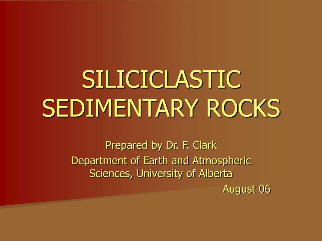 siliciclastic sedimentary rocks l.