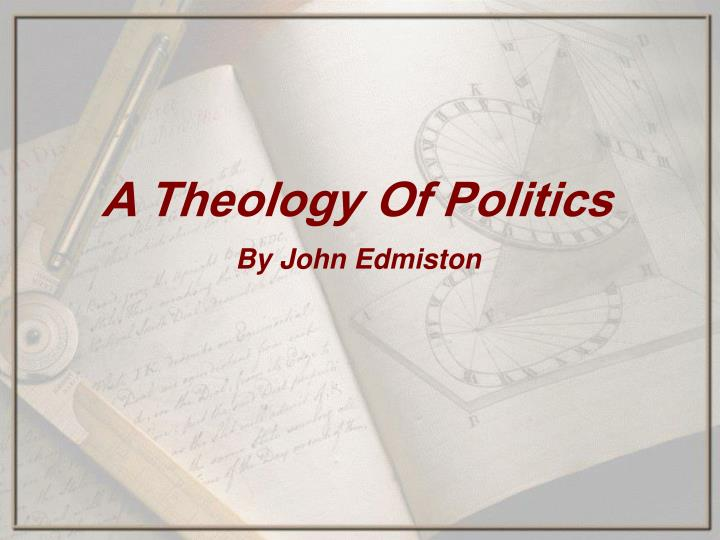 a theology of politics n.