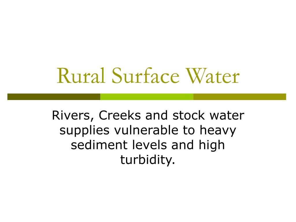rural surface water l.