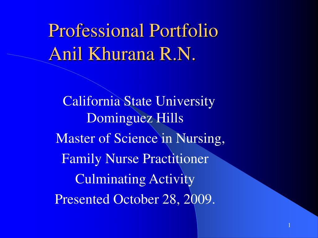 professional portfolio anil khurana r n l.