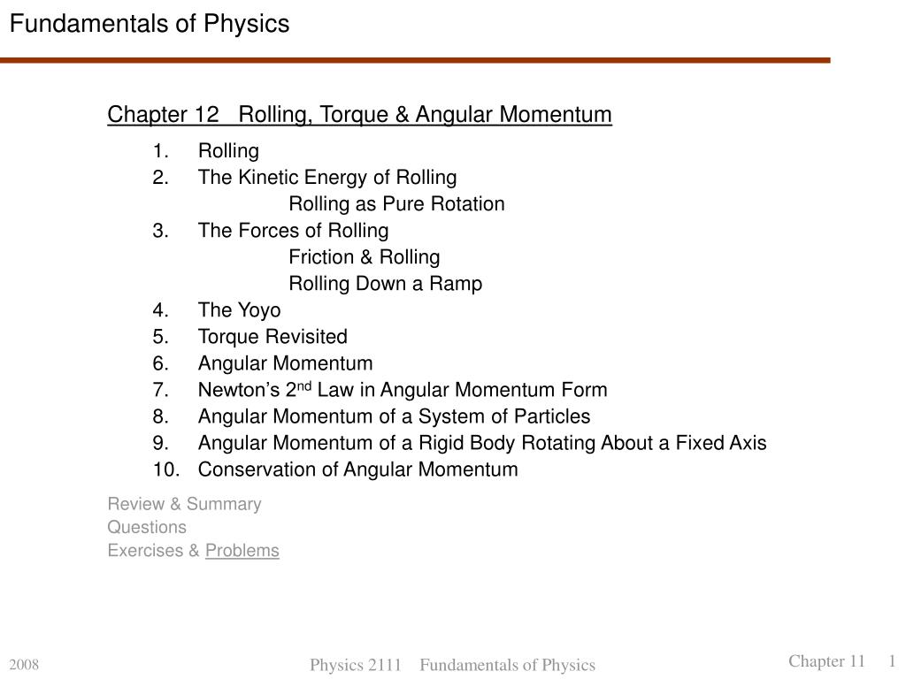 fundamentals of physics l.