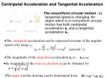 centripetal acceleration and tangential acceleration