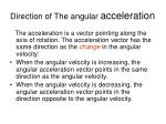 direction of the angular acceleration
